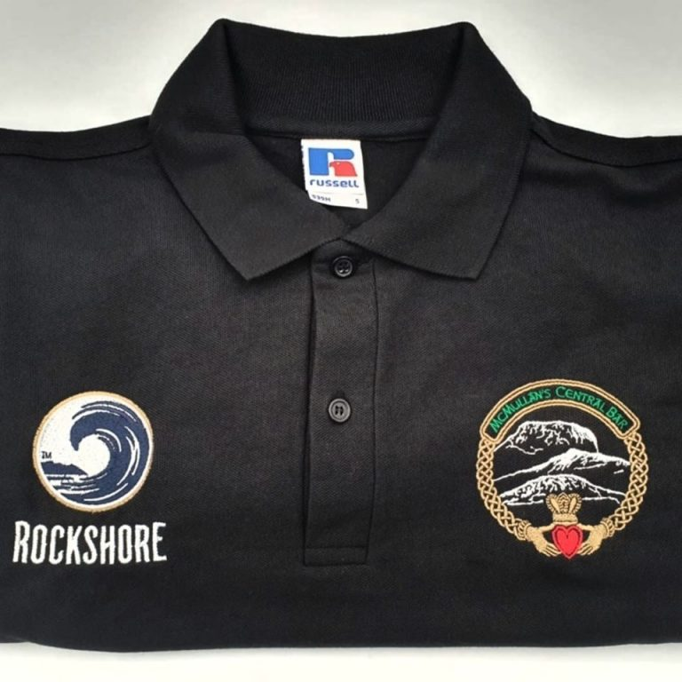 McMullan's Bar Embroidered Polo Shirt's