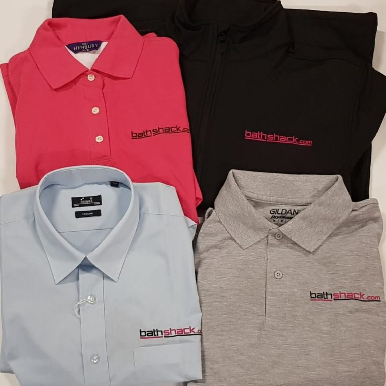 BathShack Workwear - Shirts's & Polo's embroidered for both formal and practical work setting.