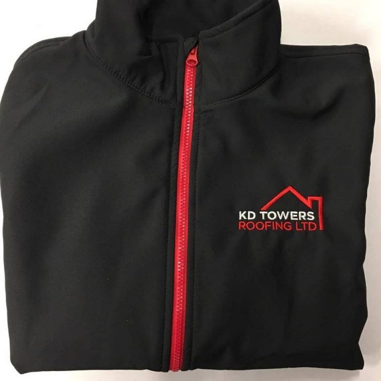 KD Towers Roofing Embroidered Soft Shell Jacket