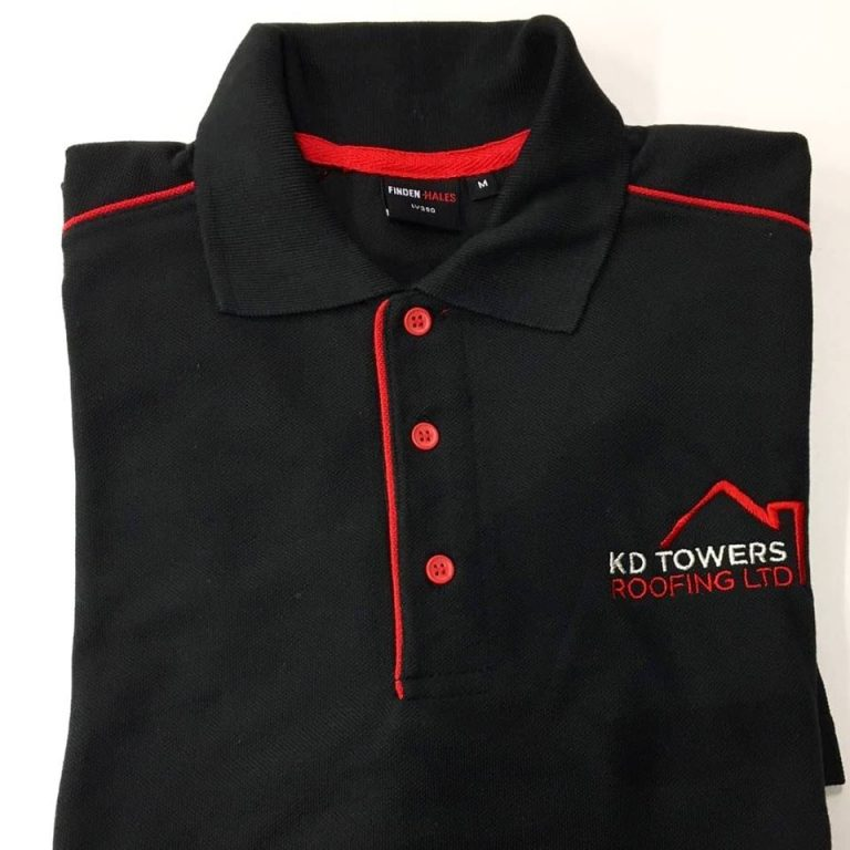 KD Towers Roofing Embroidered Polo Shirts