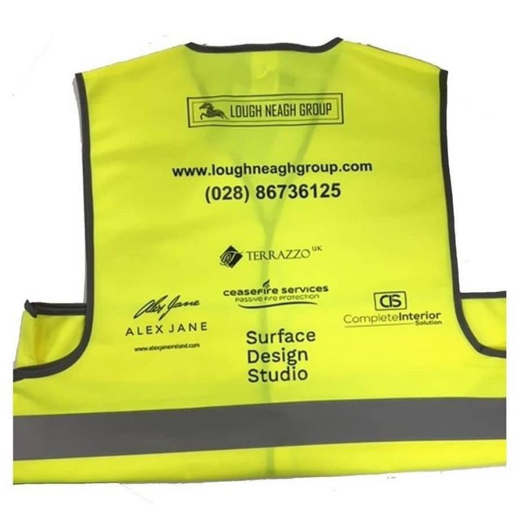 Lough Neagh Group personalised High Vis Vests