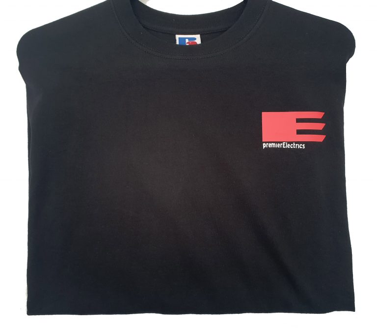 Premier Electric branded T-Shirts.